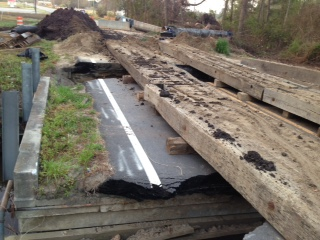 Replacing Old Washout Bridge with 75' Double Box Culvert at